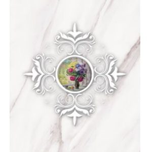 Каррара гармония Декор 1 белый 50х25 Beryoza Ceramica