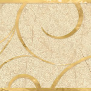 Бордюр настенный Миланезе Дизайн 1506-0156 6х60 флорал крема