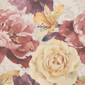Gobelen flower бежевый