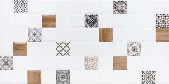 Настенная плитка декор 1 Астрид 1041-0238 20х40 белая